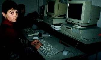 Albertin in the new computer lab