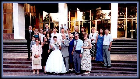 The wedding party.  Jesus was there--the wine didn't run out...
