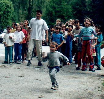 kids enjoy the camp we held at the Valea Iasului hospital
