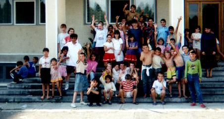 some of the kids with whom we work at the Valea Iasului Hospital