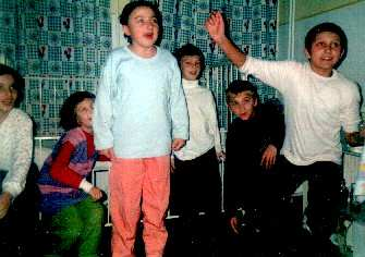 Children at the Louis Turcan hospital